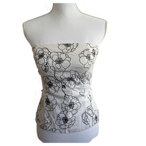 White House Black Market Bustier Small/4 Floral